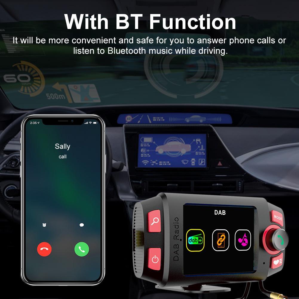 Bluetooth автомобильное крепление MP3 плеер DAB + приемник FM/am радио адаптер автомобильный fm-передатчик с 2,4 дюймовый светодиодный Дисплей и Bluetooth о...