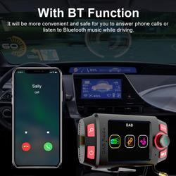 Bluetooth Car Mount MP3 Player DAB +/DAB Rádio Adaptador para Carro Transmissor FM Com 2.4 Polegada Display LED E atendimento de Chamadas do bluetooth
