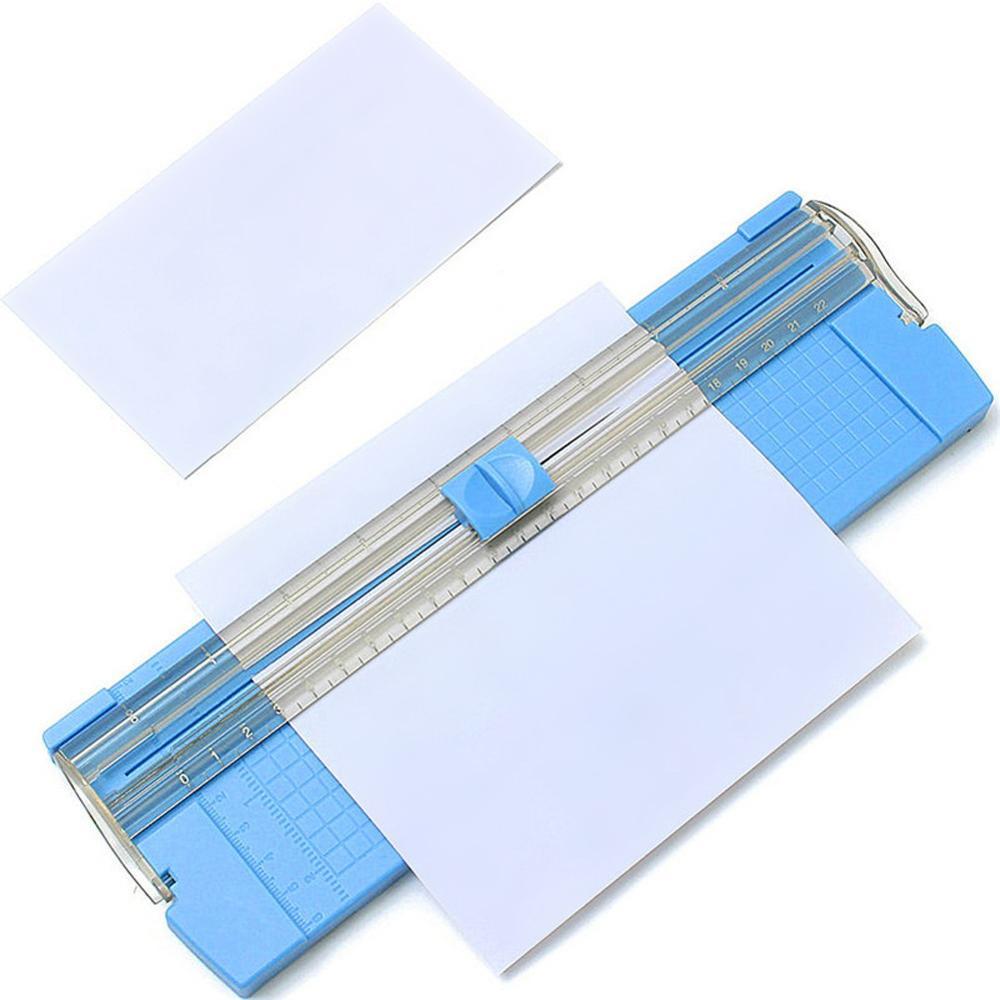 Cortadora de papel de precisión a la moda A4, cortadora de libros de recortes, ligera, para oficina, etiquetas de plástico, máquina de estera de corte de fotos