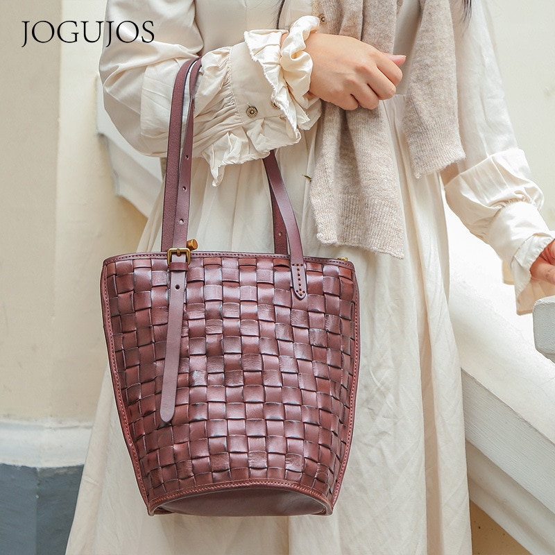 Vintage سعة كبيرة الرجعية أوروبا والولايات المتحدة الجلود عالية الجودة المرأة حقيبة الترفيه حقائب كتف الموضة الكلاسيكية