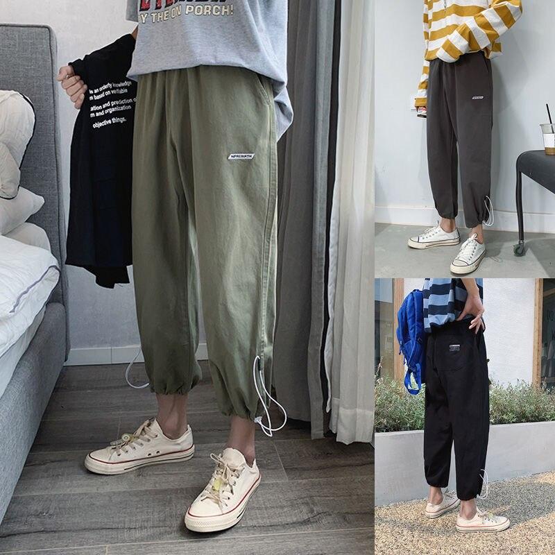 Мужские спортивные брюки с защитой, темно-синие свободные штаны для пар, повседневные спортивные штаны для студентов, весна-лето 2020
