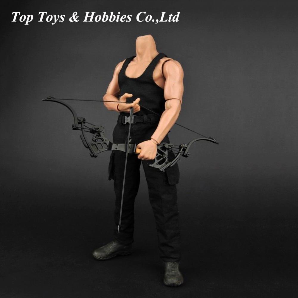 """Chaleco negro masculino y pantalones largos, modelo de ropa de soldado a escala 1/6, juguetes para hombre modelo de figura de acción de 12 """", accesorio"""