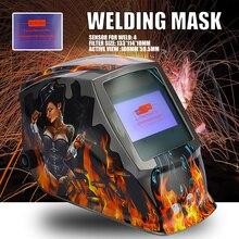 Batterie rechargeable 4 capteur darc grande vue assombrissement automatique solaire/ombrage meulage/casque de soudage polonais/lunettes de soudeur/masque