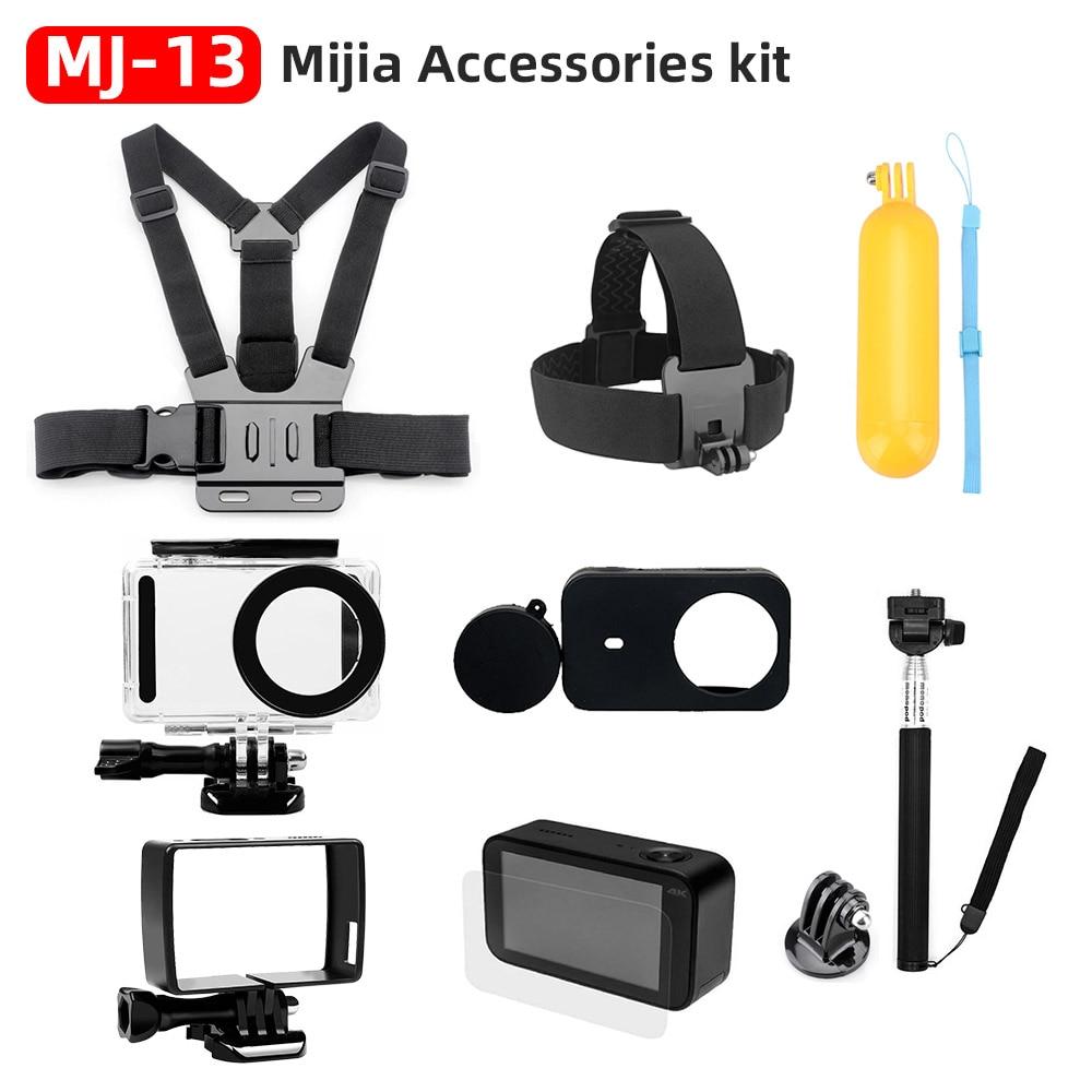 Para xiaomi mijia 4 k acessórios kit auto vara à prova dself água habitação caso caixa quadro escudo capa protetor caso capa lente mijia