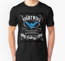 Men tshirt  nightwing   label whiskey style Unisex T Shirt Printed T-Shirt tees top
