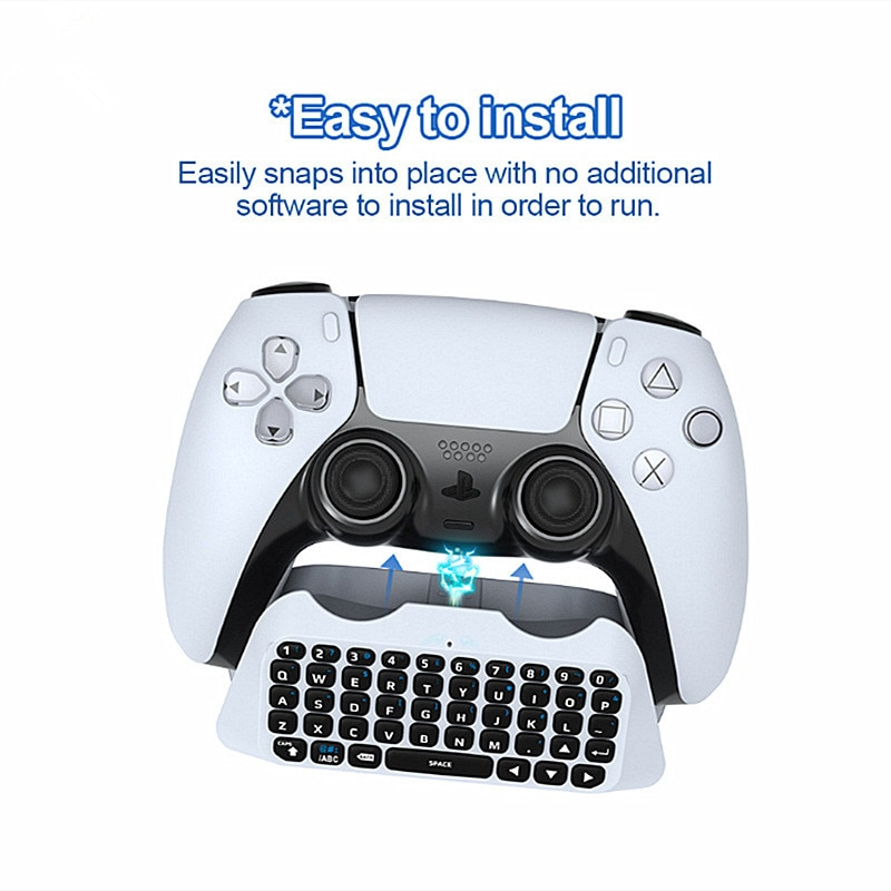 1 Set Game Handle Bluetooth-compatible Wireless Keyboard  External Keyboard For  Handle Can Chat Voice 20#