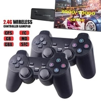 wireless video game console 4k hd display on tv projector monitor classic retro 32g 64gb 10000 games double controller