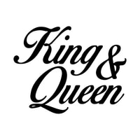 1612 4cm funny king and queen car sticker motorcycle bumper trunk laptop window decals vinyl car styling decoration