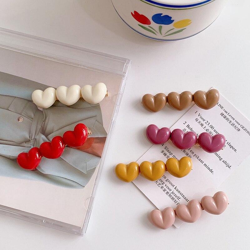 Vintage  Love Hairpin Set Korea Heart Shape Hair Clip Barrettes Fashion Accessories For Women Girls