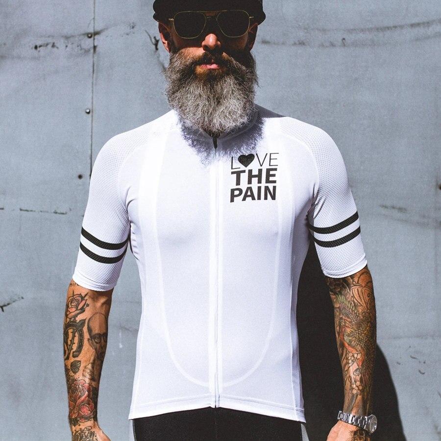 2020 amour la douleur cyclisme Jersey homme été vélo vêtements à séchage rapide course vélo vêtements uniforme respirant cyclisme vêtements