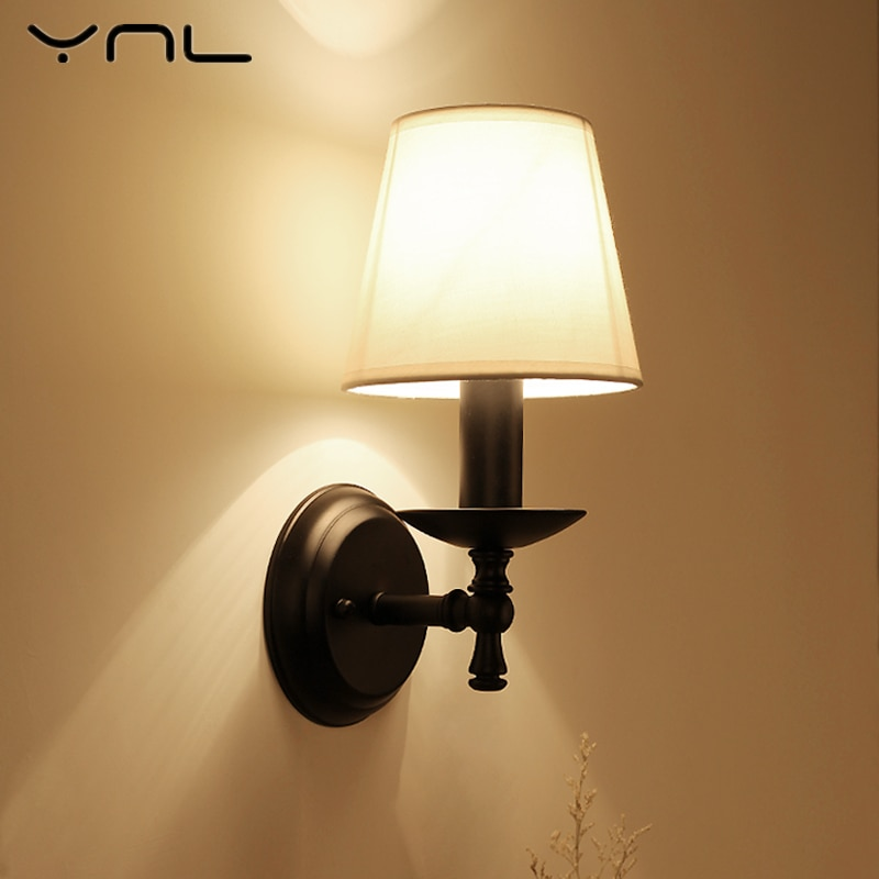 Modern Vintage Wall Lamp E14 Sconce Wall Light Fixture Bedside Retro Lamp Industrial Decor Living Room Bedroom Indoor Lighting wood iron wall lamps vintage sconce wall light fixture e27 220v bedside retro lamp industrial decor dining room bedroom light