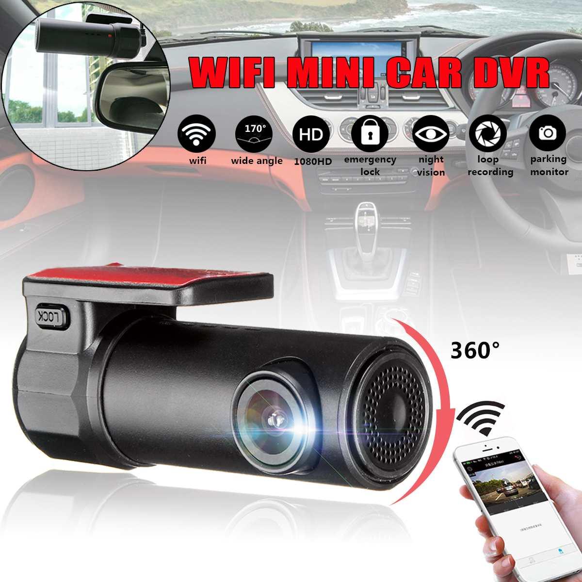 1080P HD واي فاي جهاز تسجيل فيديو رقمي للسيارات داش كاميرا كاميرا صغيرة مسجل فيديو سيارة لاسلكية داش داشكام السيارات ليلة الإصدار 170 درجة