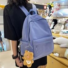 HOCODO Candy Color Women's Backpack Waterproof Nylon Female Schoolbag Kawaii Girl Travel Book Bags C
