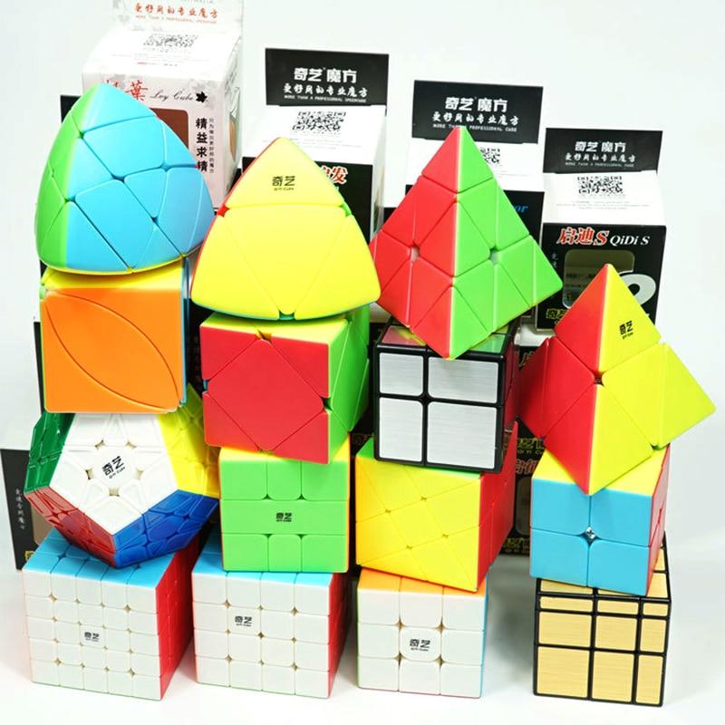 Qiyi Magic Cube Stickerless Speed 3x3x3 2x2x2 4x4x4 5x5x5 Cubo Magico 2x2 3x3 4x4 5x5 6x6 Puzzle Cube Profissional Toy Kid Gifts qiyi jelly color fun magic cube 3x3 stickerless speed cube puzzle finger toy antistress education toys for children cubo magico