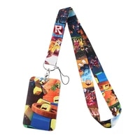 pf377 dongmanli game key lanyard car key chain personalise office id card pass gym mobile phone key ring badge holder jewelry