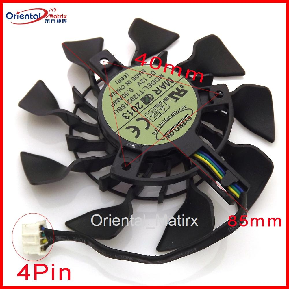 Miniventilador de refrigeración para tarjeta gráfica, ventilador VGA T129215SU PLA09215S12H de 12V...