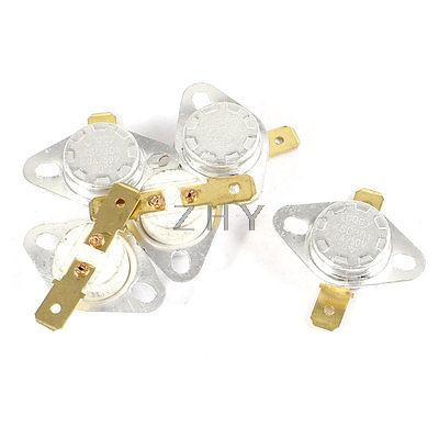 5 piezas KSD301 250V 10A 80 Celsius interruptor Normal cerrado de temperatura controlado