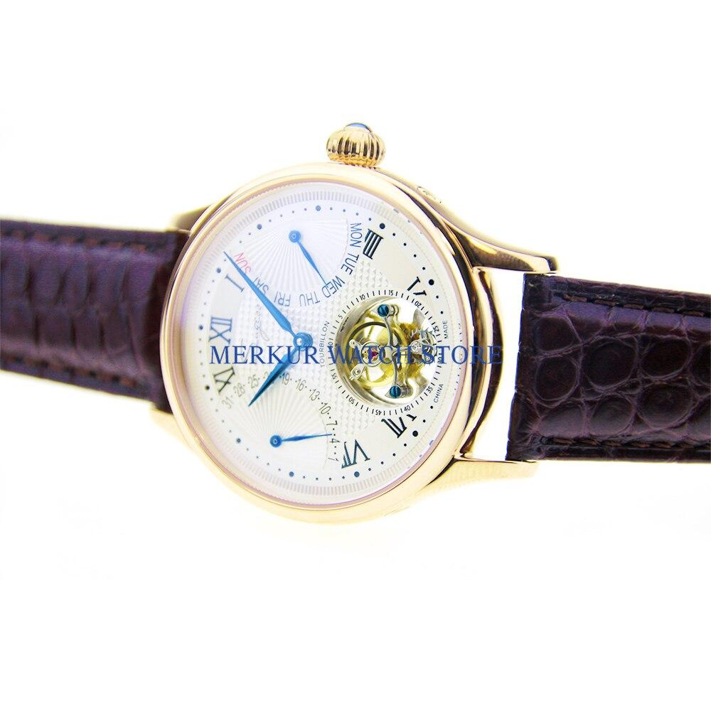 Sugess-ساعة ميكانيكية للرجال ST8004 ، ساعة حركة توربيون ، مع هيكل عظمي ، للرجال