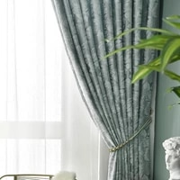 chinese countryside dark pattern retro double sided jacquard chenille curtains living room bedroom curtains