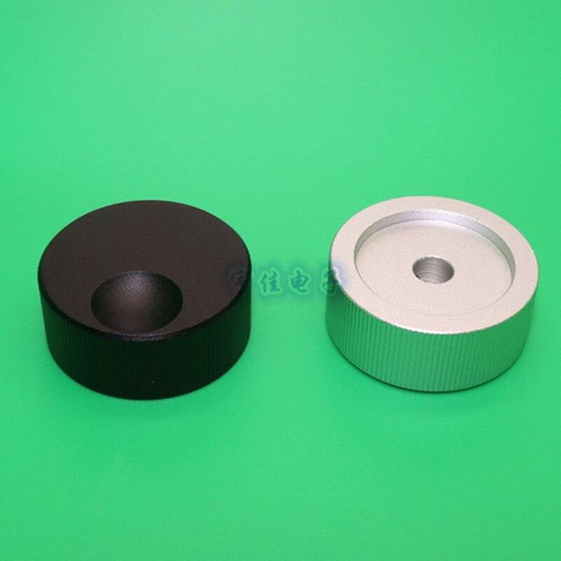 1 Piece 32 * 13mm all-aluminum solid sandblasting knob, audio amplifier volume adjustment knob, home appliance case DIY