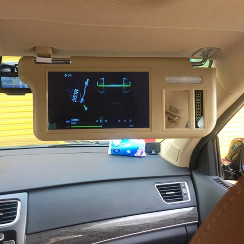 7 pulgada visera parasol pantalla bloque de Sun de la pantalla 2 canales de Video Pantalla de marcha atrás para el primer oficial