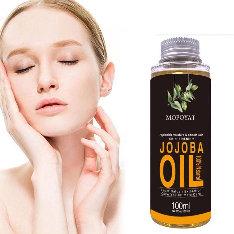 Aceite Natural de jojoba hidratante para el cuidado de la piel, aceites...