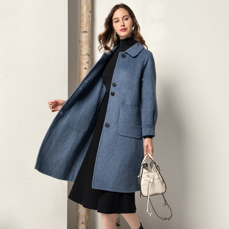 Abrigo de Invierno para Mujer abrigo de piel Real chaqueta Coreana de...