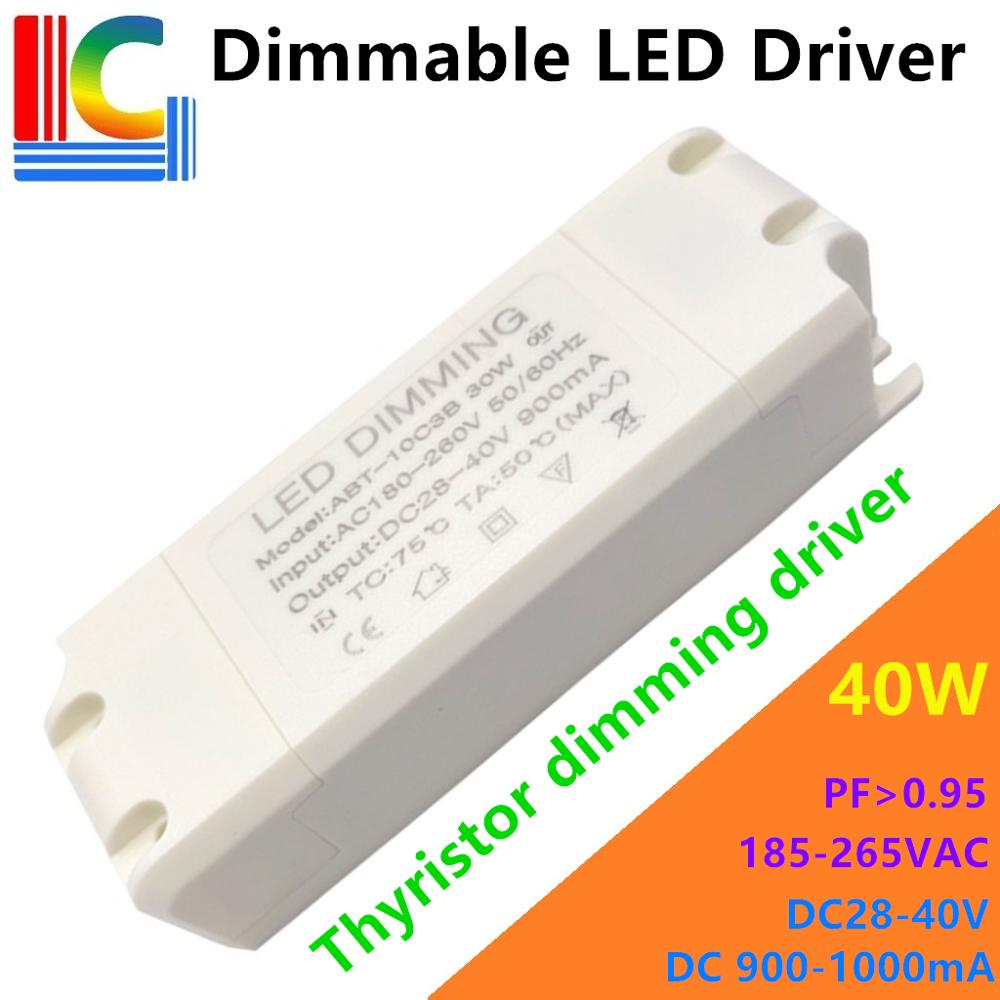 30W 36W 40W tiristor controlador de atenuación adaptador 180V-265VAC de LED externa de transformadores de potencia 900mA 1000mA para LED Panel