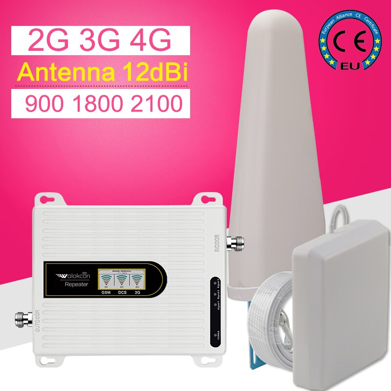 4g Signal Amplifier 4g Booster for Mobile Phones Cellular Amplifier 2g 3g 4g Gsm Signal Repeater GSM WCDMA LTE 900 1800 2100 enlarge