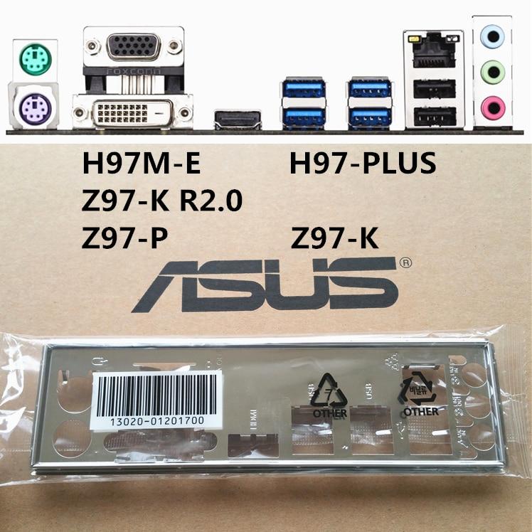 جديد I/O درع اللوحة الخلفية من اللوحة ل H97-PLUS Z97-K R2.0 H97M-E فقط درع اللوحة الخلفية شحن مجاني