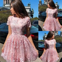 Puffy Dresses Women Ball Gown Prom Pink Ruffle Dress Sexy Mesh Lady Cute Mini Party Birthday Outfits
