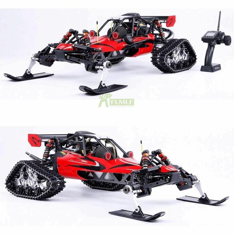 ROFUN 305as 1/5 Snowmobile Vehículo de oruga, coche de juguete RC Buggy 30,5 CC, motor de gasolina, nieve, carreras 2WD RC camiones para Baja 5B