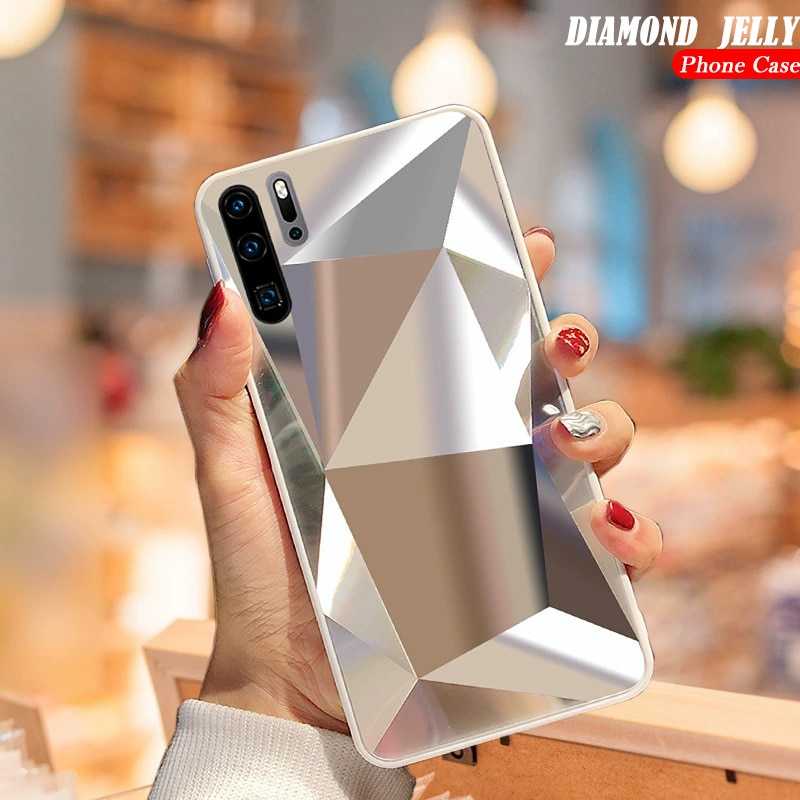 Diamant 3D Spiegel Fall Für Samsung Galaxy A71 A51 A70 A50 A30 A20 A9 A7 A6 2018 S20 Ultra S10E s9 S8 Plus Hinweis 10 Glitter Abdeckung