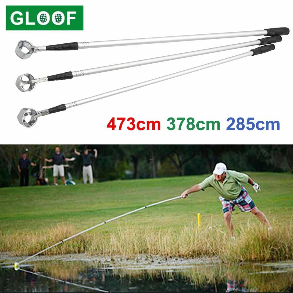 Golf Ball Retriever, Aluminum alloy Telescopic Extendable Golf Ball Retriever for Water Golf Ball Pick Up Retriever Golf Gift
