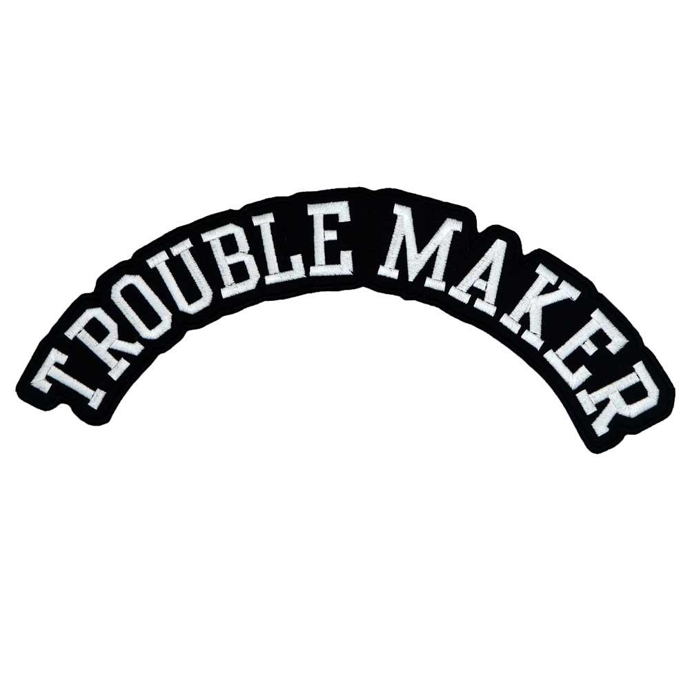 Trouble maker ROCKER bordado punk biker parches adhesivos para ropa accesorios insignia