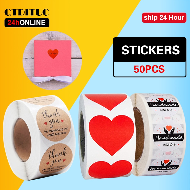 50-pezzi-adesivi-fatti-a-mano-cancelleria-rotonda-grazie-per-aver-ordinato-regalo-etichetta-per-bambini-timbro-adesivo-a-forma-di-cuore-adesivo-per-vacanze