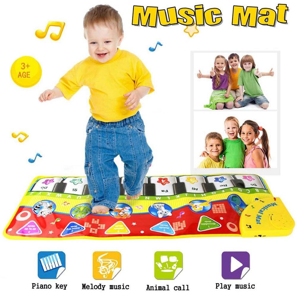 Alfombra de juego Musical para bebé de 70x27CM, alfombra para gatear para niños, alfombra en forma de Piano, Juguete Musical educativo, juego táctil para niños para regalo de cumpleaños