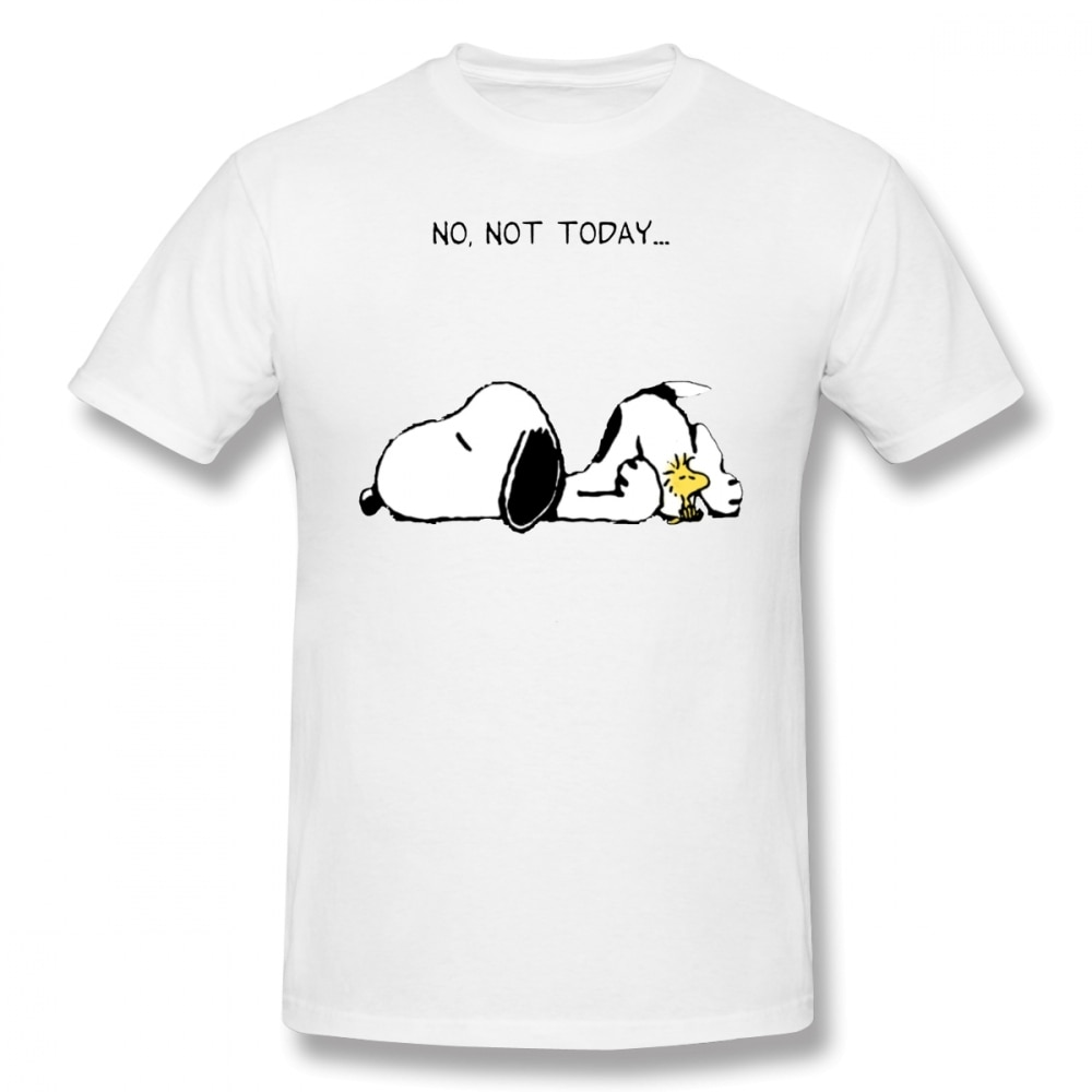 Erdnüsse T Hemd Keine Nicht Heute T-Shirt Männlichen Großen T Shirt Kurzarm Casual Spaß 100% Baumwolle Grafik T-shirt
