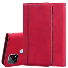 Cover For OPPO Realme C21 Case PU Leather Back Flip Phone Capa Shell For Realme C21 C 21 чехол