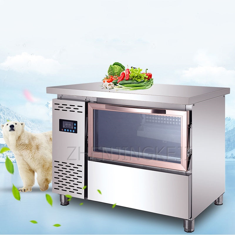 Blu-Ray Fully Automatic Ice Maker 220V Commercial Square Ice Machine Milk Tea Shop Combination Bar Cold Storage KTV Equipment