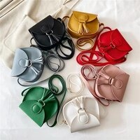 2021 new womens handbags solid color soft surface simple tassel magnetic buckle single shoulder messenger small bag female bag