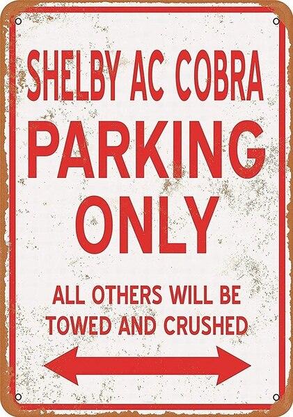 Shelby Ac Cobra-cartel de chapa Retro, ornamento nostálgico de metal, para garaje,...