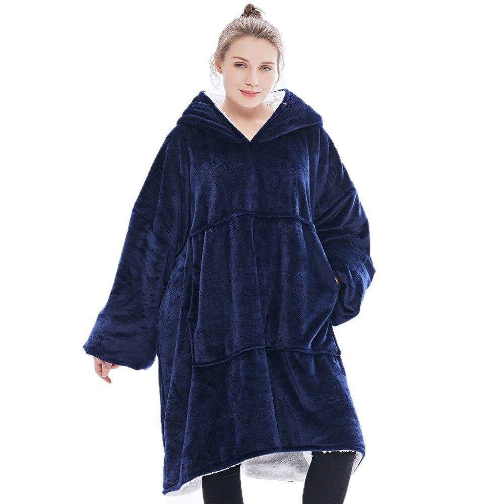Hiver épais confortable TV couverture sweat-shirt grand jet chaud couverture à capuche polaire pondérée couvertures pour lits en plein air