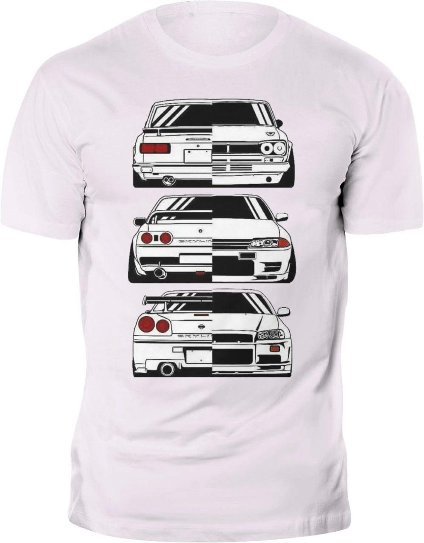Sommer oansatz Männer T-Shirt Mode Neue T-Shirt Japan Auto Skyline 2000 R32 R34 Gtr Evolution Jdm T Shirts Für Männer
