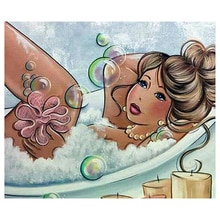 Woman bathing Diamond Embroidery Bath Chart 5D DIY Diamond Painting full square Diamond Mosaic Cross Stitch home bathroom AA471