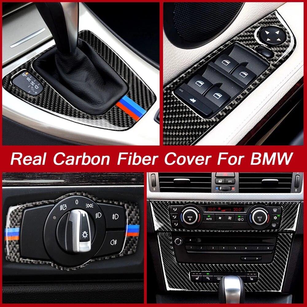 Автомобильные наклейки и Стикеры из углеродного волокна для BMW 3 серии E90 E92 E93, декоративные аксессуары