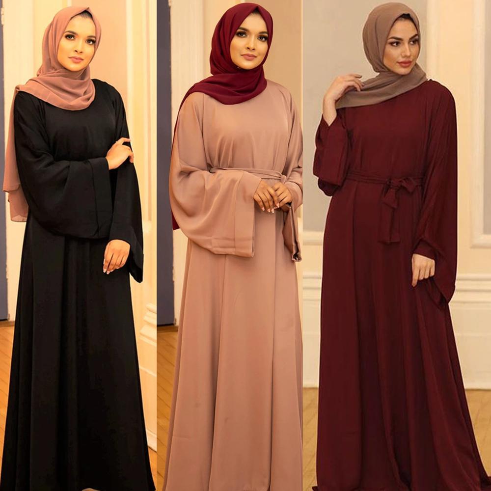 Ramadán musulmán vestido Hijab abayas para damas Abaya Dubai Turquía ropa Islam...