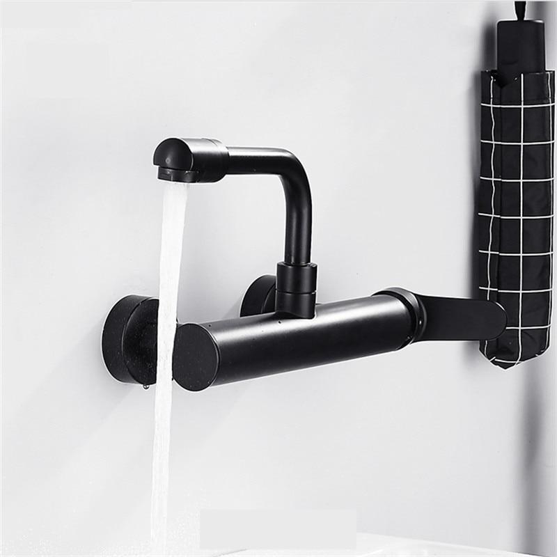 WZLY-حنفيات المطبخ ، خلاط مياه ساخنة وباردة ، مثبتة على الحائط ، بمقبض واحد ، دوار 360 درجة