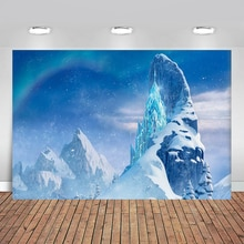 Newborn Frozen Ice World Castle Birthday Party Baby Shower Photography Backdrops Background  Photo Background for Photo Studio
