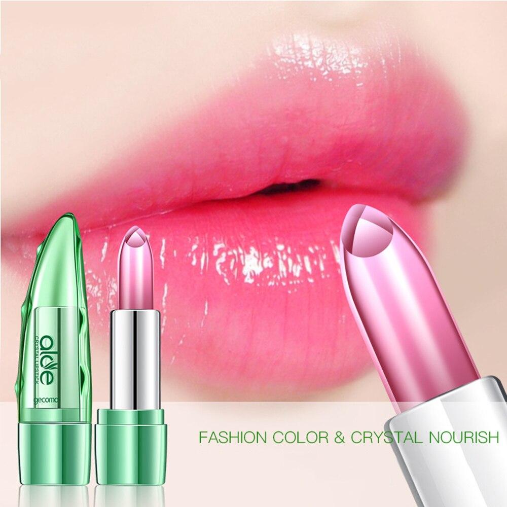 1 Pcs New Moisturizing Lip Balm Aloe Vera Natural Lipbalm Temperature Changed Color Lipstick Natural Long Lasting Lip Balm TSLM1